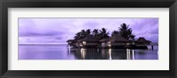 Framed Resort at Dusk, Tahiti, French Polynesia