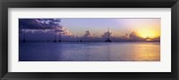 Framed Boats in the Pacific ocean, Tahiti, French Polynesia