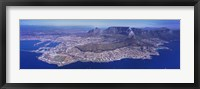 Framed Aerial View of Cape Town, South Africa