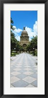 Framed State Capitol Building, Austin, Texas