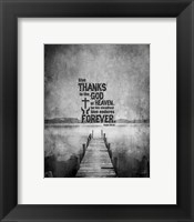 Framed Psalm 136:26, Give Thanks (B&W Photo)