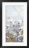 Framed Golden Dropplets I - Metallic Foil