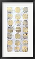 Gilded Imprint I - Metallic Foil Framed Print