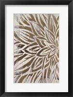 Barnwood Bloom I - Metallic Foil Framed Print