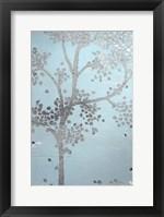 Metallic Tree II - Metallic Foil Framed Print