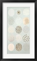 Playful Patterns II - Metallic Foil Framed Print