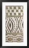 Framed Tribal Pattern in Cream II - Metallic Foil