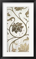 Weathered Floral Panel II - Metallic Foil Framed Print