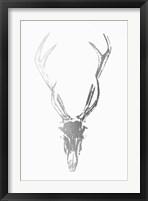 Silver Foil Rustic Mount I on White - Metallic Foil Framed Print