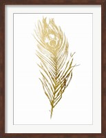 Framed Gold Foil Feather II - Metallic Foil