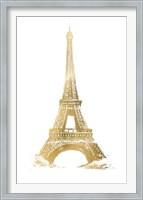 Framed Gold Foil Eiffel Tower - Metallic Foil