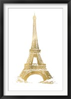 Framed Gold Foil Eiffel Tower - Metallic Foil