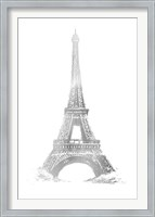 Framed Silver Foil Eiffel Tower - Metallic Foil