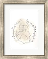 Framed Golden Woodland Vignette II - Metallic Foil