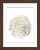 Framed Golden Woodland Vignette III - Metallic Foil