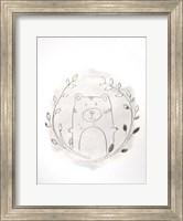 Framed Golden Woodland Vignette IV - Metallic Foil