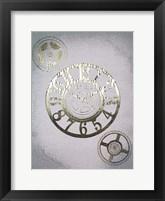 Gilded Clocks I - Metallic Foil Framed Print