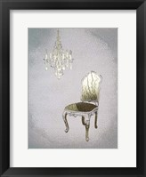 Gilded Furniture I - Metallic Foil Framed Print
