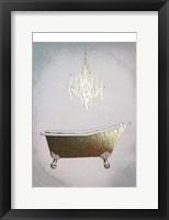 Gilded Bath I - Metallic Foil Framed Print