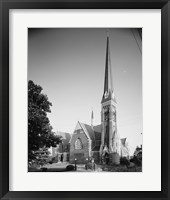 Framed GENERAL VIEW, ELEVENTH ST. FRONT ON LEFT, COURT ST. SIDE ON RIGHT - First Baptist Church, Court and Eleventh Streets, Lynchburg