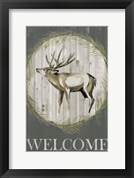 Woodland Welcome I Framed Print