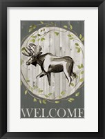 Framed Woodland Welcome IV