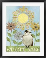 Framed Spring Welcome I