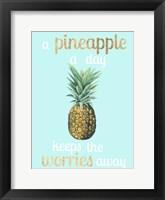 Framed Pineapple Life I