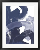 Blue on Blue I Framed Print