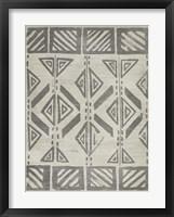 Mudcloth Patterns VII Framed Print