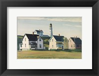 Framed Lighthouse Village (also known as Cape Elizabeth), 1929
