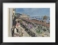 Framed Festival of Flowers, Nice (Fete des fleurs), 1923