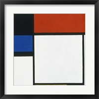 Framed Composition No. III / Fox Trot B with Black, Red, Blue and Yellow, 1929