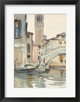 Framed Bridge and Campanile, Venice, 1902/04