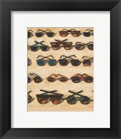 Framed Five Rows of Sunglasses, 2000