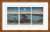 Framed Kanazawa in Moonlight, 7th month, 1857