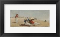 Framed East Hampton Beach, Long Island, 1874