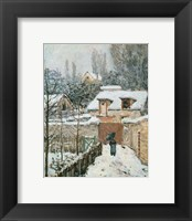 Framed Snow at Louveciennes, 1874
