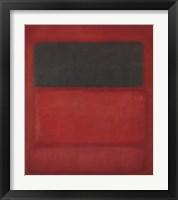 Framed Black over Reds [Black on Red], 1957