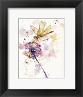Framed Dragonfly & Dandelion
