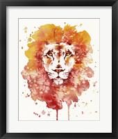 Framed Pride (Watercolor Lion)