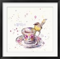 Framed Tea Time (Eastern Yellow Robin)