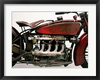 Framed Detail of 4 Cylinder Indian Ace, 1929