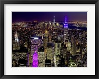 Framed Midtown and Lower Manhattan at Night