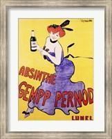 Framed Absinthe Gempp Pernod, 1903