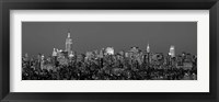Framed Manhattan Skyline (detail)
