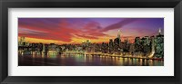 Framed Sunset Over New York (detail)