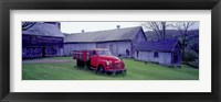 Framed Red Vintage Pickup