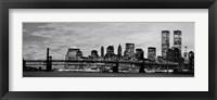 Framed Manhattan at Night BW