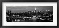 Framed Midtown Manhattan and Williamsburg Bridge 2